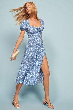 14 Summer Dresses Customers Can't Stop Buying From Reformation and You Should, Too Super Midi dress Causal Wedding Dress, Casual Dresses For Women, Short Dresses, Cute Outfits, Summer Outfits, Midi Summer Dresses, Summer Wedding Outfits, Flattering Dresses, Custom Dresses