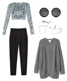 """I'm Alive"" by laura-karssen ❤ liked on Polyvore featuring Monki, Hervé Léger, Missguided and The Row"