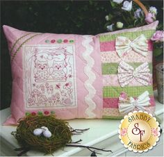 The Rivendale Collection - Love Birds: This delightful pattern is a part of The Rivendale Collection by Sally Giblin. Pattern includes instructions for stitchery and instructions for cushion. Finished size is 15