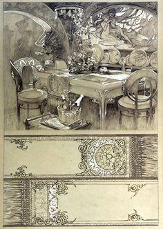Documents decoratifs, plate 72 (original, crayon & white gouache)