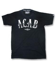 Liquor Brand Herren ACAB2 T-Shirt.Tattoo,Biker,Custom,Rockabilly,Oldschool Style