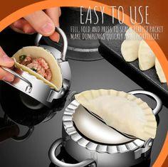Cooking Gadgets, Cooking Tools, Cooking Recipes, Empanadas, Pork Pot Stickers, Dumpling Skin, How To Make Dumplings, Dough Cutter, Cool Kitchen Gadgets