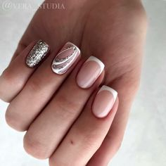 """1,076 Likes, 2 Comments - ИДЕИ МАНИКЮРА Реклама (@ideas_for_nailart) on Instagram: """"@vera_studia ●○●○● Лучшие мастер-классы ➡️ @nails_by_steps ●○●○● #френч #френчик…"""""""