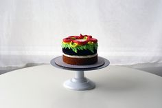 The cutest modern how to make a burger cake tutorial by Coco Cake Land