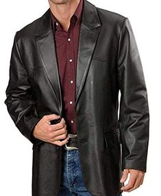 MEN/'S BLAZER BUTTER SOFT NEW-ZEALAND LAMB REAL LEATHER CLASSIC STYLE VERY SOFT