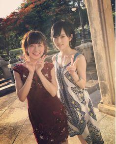 NMB48卒業前の渡辺美優紀、山本彩とのツーショット披露「さやみる最高です」/2016年7月4日 - 写真 - エンタメ - ニュース - クランクイン! Vietnamese Dress, Cool Hats, Yamamoto, Asian Beauty, Idol, Beautiful Women, Sari, Culture, Actresses
