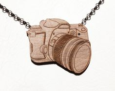 Not-a-Camera Wooden Camera Necklace is Actually a Camera