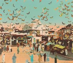 Detail of print from Edge of Arabia, Edition#1, Battersea, London. Image courtesy Edge of Arabia.