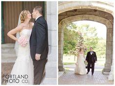 Www.portlandphotocompany.com  Chapel wedding in Maine #Pink #wedding #pose