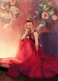 ♥ Romance of the Maiden ♥ couture gowns worthy of a fairytale - red bliss