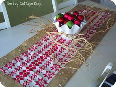 super cute holiday table runner