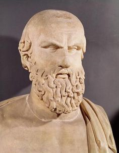 Bust of Aeschylus (c.525-c.456 BC) (stone) Greece Musei Capitolini,Rome