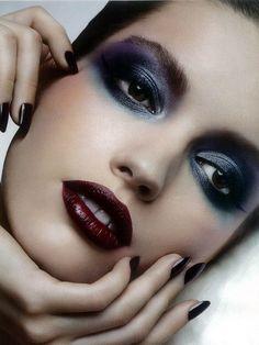 Dark makeup I love a dark eye & lip together. So dramatic! www.redreidinghood.com