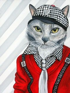 Custom Cat Portraits Cats in Clothes Paintings Animal Portraits, Pet Portraits Oil Painting on Canvas by k Madison Moore - pinned by pin4etsy.com