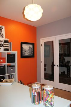 We have leftover orange paint?? Maybe, for an accent wall?