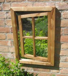 Miroir dIllusion pour Jardin - en Chêne Rustique €206.95
