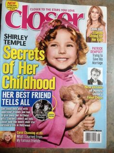 SHIRLEY TEMPLE Closer Magazine February 2016 JAMES DEAN Carol Channing