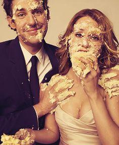 John Krasinski and Jenna Fischer