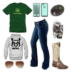 John Deere, Dodge, Cummins, And Peterbilt Cute Cowgirl Outfits, Rodeo Outfits, Western Outfits, Cute Casual Outfits, Western Wear, Outfits For Teens, Cowgirl Style, Fair Outfits, Gypsy Cowgirl