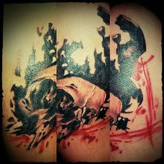 New scholl tattoo@Wil&malhotra#WildanMalhotraTattoo-BLACKGREYANDRED#PaguyubantattooBandung#IndonesianSubculture