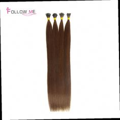 54.42$  Watch now - http://alifh0.worldwells.pw/go.php?t=32493499305 - Pre-Bonded Fusion Human Hair Extensions Cheap Indian Virgin Hair #27 I Tip Double Drawn Remy Hair Extensions