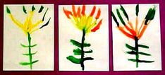 """Students read the book, """"The Legend of the Indian Paintbrush"""" by Tommie dePaola and create a series of Indian paintbrush flowers using watercolor.    http://www.thesmartteacher.com/exchange/resource/388/The-Legend-of-the-Indian-Paintbrush"""