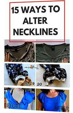 Terrific Totally Free sewing hacks neckline Strategies Exceptional sewing hacks are available on our website. Have a look and you wont be sorry you did. Sewing Hacks, Sewing Tutorials, Sewing Tips, Sewing Crafts, Sewing Ideas, Sewing Clothes, Diy Clothes, Clothes Refashion, Shirt Refashion
