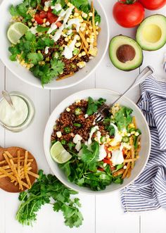 Taco Bowls with Cucumber Jalapeño Ranch