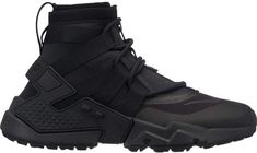 Buy and sell authentic Nike Air Huarache Gripp Triple Black shoes and thousands of other Nike sneakers with price data and release dates. Nike Air Huarache, Sneakers Mode, Sneakers Fashion, Men Sneakers, Chanel Sneakers, Black Nike Shoes, All Black Sneakers, Buy Shoes, Me Too Shoes