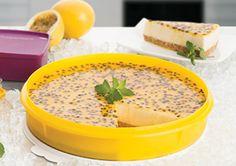 Cheesecake de Ricota com Coulis de Maracujá                                                                                                                                                                                 Mais