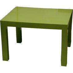 Vintage Mid Century Modern bright green Thayer Coggin designer coffee table
