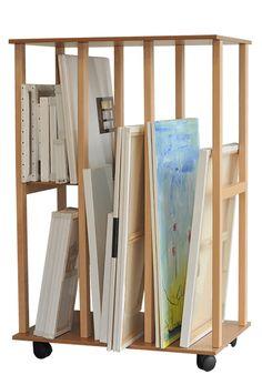Art Studio Storage, Art Studio Room, Art Studio Design, Art Studio Organization, Art Studio At Home, Art Storage, Painting Studio, Craft Room Storage, Home Art