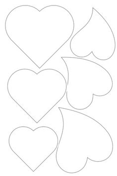 Heart template - Photo from album Шаблоны on – Heart template Applique Templates, Applique Patterns, Applique Designs, Heart Template, Flower Template, Felt Crafts, Diy And Crafts, Paper Crafts, Felt Patterns