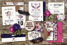 Raspberry Road Designs BOHO wedding set.