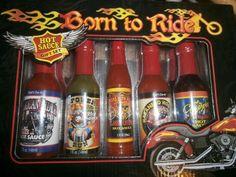 Born to Ride Biker Hot Sauce Gift Set http://bikeraa.com/born-to-ride-biker-hot-sauce-gift-set/