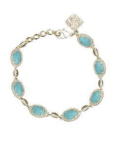 Ahni Link Bracelet in Turquoise - Kendra Scott Jewelry