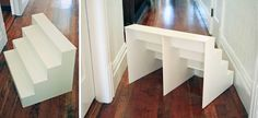 DIY foam board craft display tutorial. The end product is then covered in 'Wood' paper