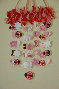 Ladybug Love Bug Heart Flower Baby Mobile by magicalwhimsy on Etsy