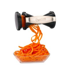 "Two Julienne Sizes (1/16"" and 1/8"") Are Perfect To Make Long Veggie Noodles and Angel Hair Spirals. #spiralizer #healthyliving #health #vegeterian #paleo #healthyfood #vegetizer"