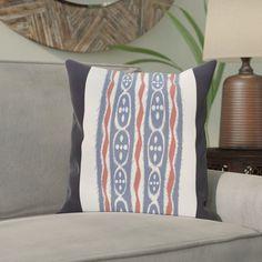 Atilla Stripes Print Outdoor Pillow