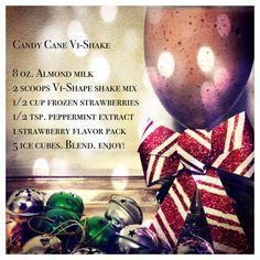 Nutritiously delicious Candy Cane Vi-Shake!