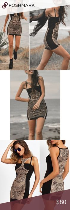 """High-neck Mini Dress NO TRADES   FIRM PRICE  Patterned mini dress. High-neck design. Tons of stretch. Unlined.  Approximate flat measurements:  Small 15"""" bust 32"""" length  Medium 16"""" bust 32.5"""" length JV Boutique Dresses Mini"""