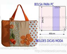 Bags with measurements Diy Bags No Sew, Diy Bags Patterns, Triangle Bag, Diy Bags Purses, Computer Bags, Patchwork Bags, Fabric Bags, Handmade Bags, Bag Making