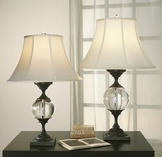 Crystal Ball Urn Lamps: Love these lamps at Restoration Hardware