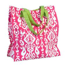 ec7672547656 Ikat Shopper Tote Bag in Pink Shopper Tote, Joss And Main, Ikat, Drawstring
