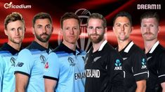 Catch ENG vs NZ Dream 11 team Today Match 41 World Cup Best players list to select for World Cup 2019 England vs New Zealand Dream 11 Tips. Cricket Tips, Icc Cricket, First World Cup, World Cup Final, Matches Today, Live Matches, One Day Match, Tom Latham, Kane Williamson