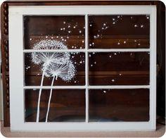 Dandelion Window Painting