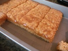 Salted Caramel Rice Krispies Treats~OMG