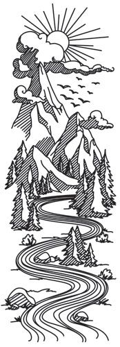 Mountain Valley Sleeve design (UTH10429) from UrbanThreads.com