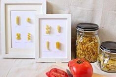 DIY: Cuadros de pasta para decorar la cocina, ¡una idea genial!